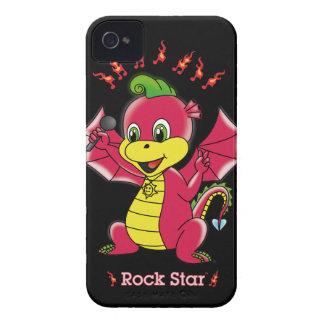 Casamata apenas There™ de Rockstar™ 4 4S del dragó iPhone 4 Cárcasas
