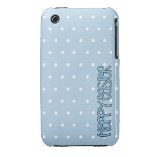 Casamata azul feliz del iPhone 3G 3GS de Pascua Case-Mate iPhone 3 Fundas