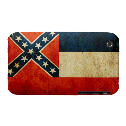 Casamata Barely There del iPhone 3 de Mississippi iPhone 3 Case-Mate Carcasas