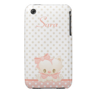 Casamata Barely There del iPhone 3G-3GS del gatito iPhone 3 Case-Mate Cárcasa