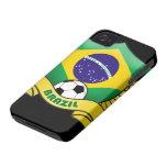 Casamata Barely There del iPhone 4/4S del fútbol d iPhone 4 Cobertura