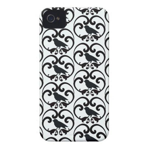 Casamata blanca negra del iphone 4 del modelo del  iPhone 4 Case-Mate cárcasas