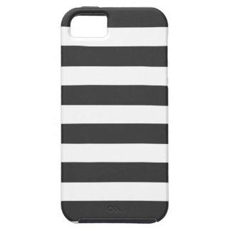Casamata blanco y negro del iPhone 5 de las rayas  iPhone 5 Case-Mate Carcasa