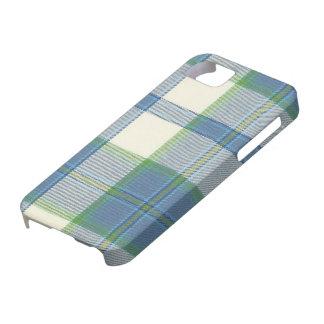 Casamata Ca del iPhone 5 del tartán del azul de Funda Para iPhone 5 Barely There