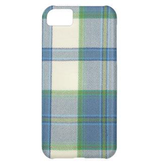 Casamata Ca del iPhone 5 del tartán del azul de ve