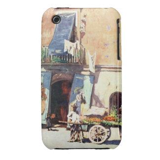 Casamata Cas de la curva de Nápoles Blackberry del iPhone 3 Fundas