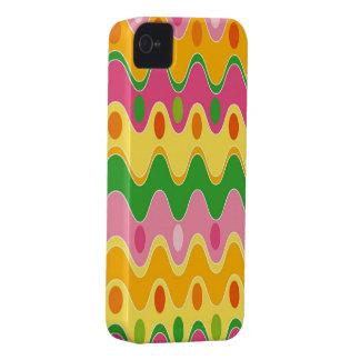 Casamata colorida abstracta retra del iPhone 4 del iPhone 4 Case-Mate Carcasas