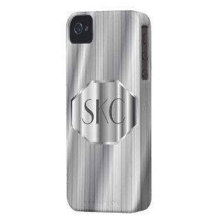Casamata con monograma de plata del art déco para  Case-Mate iPhone 4 protectores