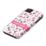 Casamata de costura rosada apenas There™ del iPhon iPhone 4 Funda