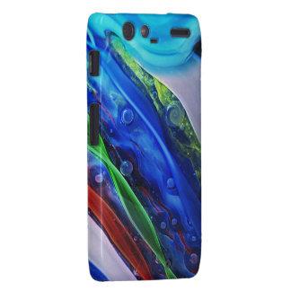 Casamata de cristal azul del teléfono de la galaxi motorola droid RAZR carcasa