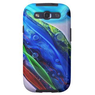 Casamata de cristal azul del teléfono de la galaxi galaxy s3 cobertura