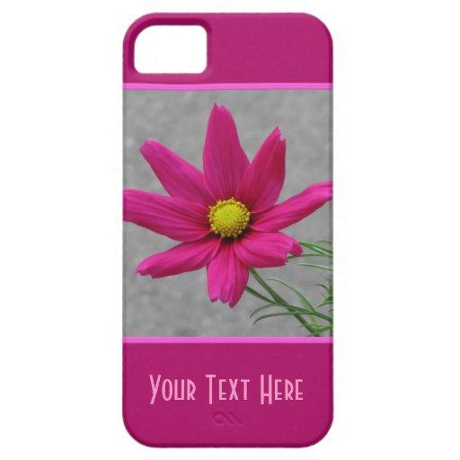 Casamata de encargo del iPhone de la flor rosada Funda Para iPhone SE/5/5s