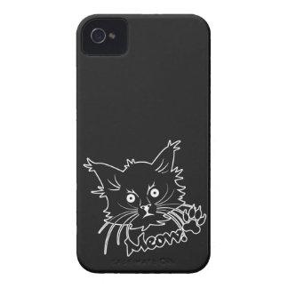 Casamata de encargo del iPhone del gato negro Case-Mate iPhone 4 Protector