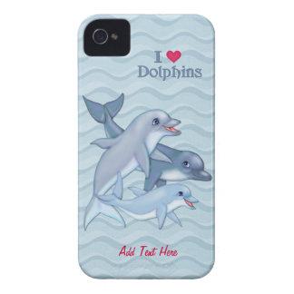 Casamata de la familia del delfín carcasa para iPhone 4 de Case-Mate