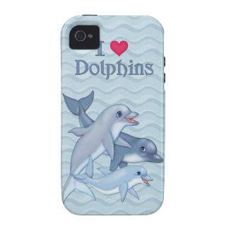Casamata de la familia del delfín iPhone 4/4S carcasa