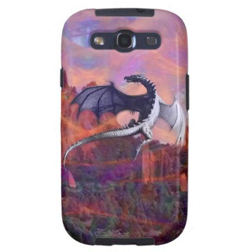 Casamata de la galaxia de Samsung: Dragón altísimo Galaxy S3 Protectores