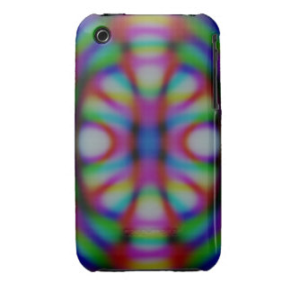 Casamata del fractal del arco iris Case-Mate iPhone 3 cobertura