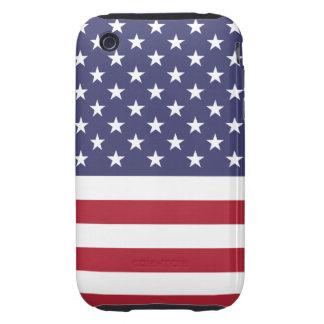 Casamata del iPhone 3G/3GS de la bandera americana Tough iPhone 3 Cobertura