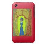 Casamata del iPhone 3G de la flor del escarlata (D iPhone 3 Carcasas