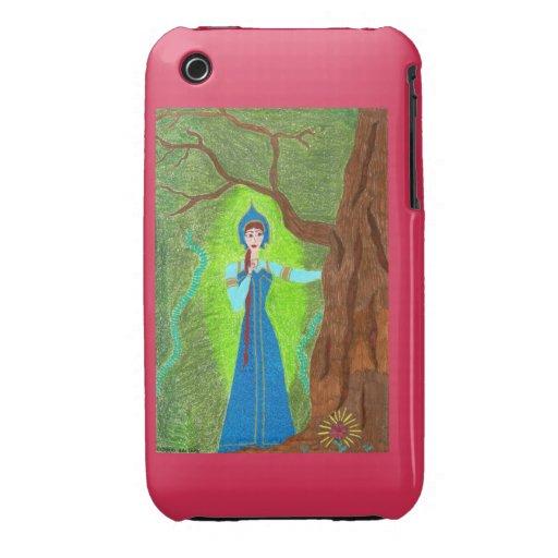 Casamata del iPhone 3G de la flor del escarlata Case-Mate iPhone 3 Protectores