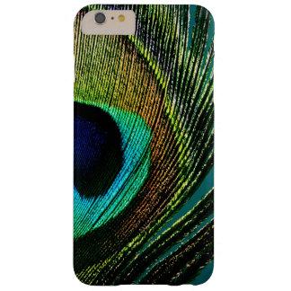 Casamata del iPhone 3G de la pluma del pavo real Funda Para iPhone 6 Plus Barely There