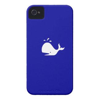 Casamata del iPhone 4 de la ballena de Glow_White- iPhone 4 Coberturas