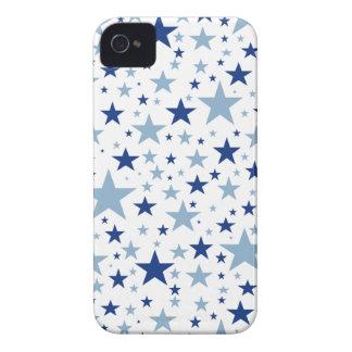 Casamata del iPhone 4 de las estrellas azules iPhone 4 Funda