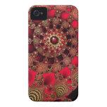 Casamata del iPhone 4 de los rubíes y del oro Case-Mate iPhone 4 Carcasas