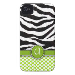 Casamata del iPhone 4 del estampado de zebra de Mo Case-Mate iPhone 4 Carcasas