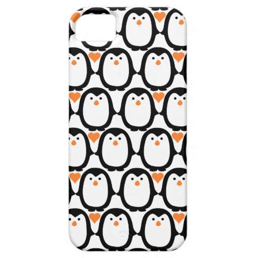 Casamata del iPhone 5 del amor del pingüino iPhone 5 Funda