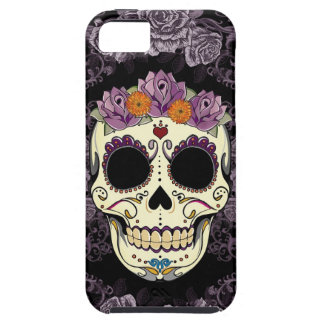 Casamata del iPhone 5 del cráneo y de los rosas de iPhone 5 Carcasa