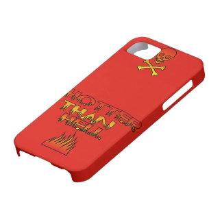 Casamata del iPhone 5 del logotipo de HotterThanHe iPhone 5 Protectores
