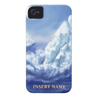 Casamata del iPhone del glaciar con el espacio del iPhone 4 Cobertura