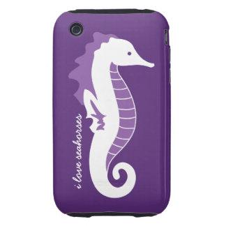 Casamata divertida del iPhone 3G del Seahorse dura Tough iPhone 3 Carcasa