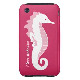 Casamata divertida del iPhone 3G del Seahorse dura Tough iPhone 3 Coberturas