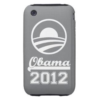 Casamata dura 2012 del iPhone 3 de OBAMA (gris) iPhone 3 Tough Funda