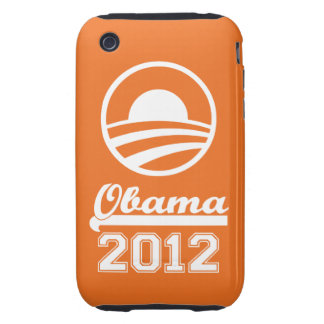 Casamata dura 2012 del iPhone 3 de OBAMA (naranja) Tough iPhone 3 Funda