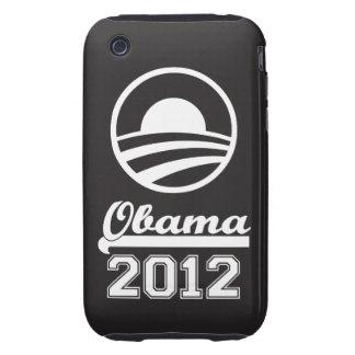 Casamata dura 2012 del iPhone 3 de OBAMA (negro) Funda Though Para iPhone 3