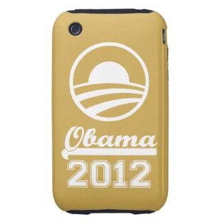 Casamata dura 2012 del iPhone 3 de OBAMA (oro) Funda Though Para iPhone 3