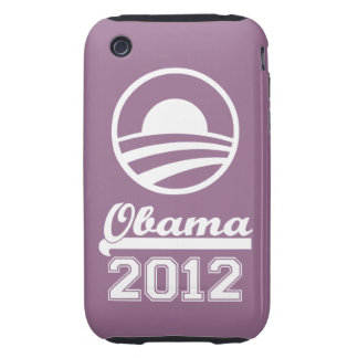 Casamata dura 2012 del iPhone 3 de OBAMA (púrpura) Tough iPhone 3 Funda