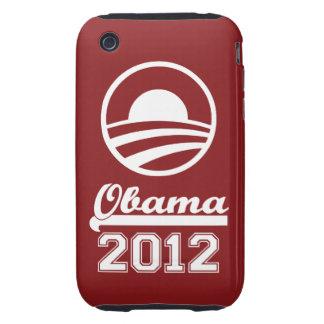 Casamata dura 2012 del iPhone 3 de OBAMA (roja) Tough iPhone 3 Fundas