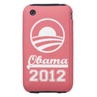 Casamata dura 2012 del iPhone 3 de OBAMA (rosa) Carcasa Resistente Para iPhone