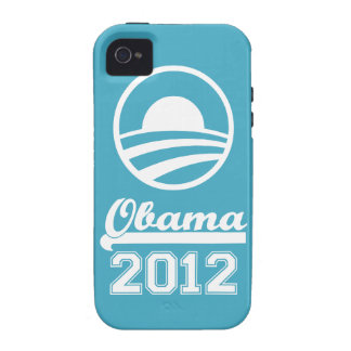 Casamata dura 2012 del iPhone 4 de OBAMA (aguamari iPhone 4/4S Carcasas