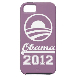 Casamata dura 2012 del iPhone 5 de OBAMA (lila) iPhone 5 Fundas