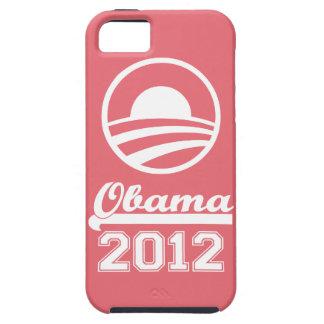 Casamata dura 2012 del iPhone 5 de OBAMA (rosa) Funda Para iPhone 5 Tough