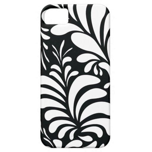 Casamata elegante del iphone 5 del follaje blanco  iPhone 5 Case-Mate coberturas