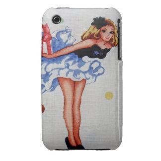Casamata femenina del iPhone 3/3GS de la tela del iPhone 3 Cárcasa