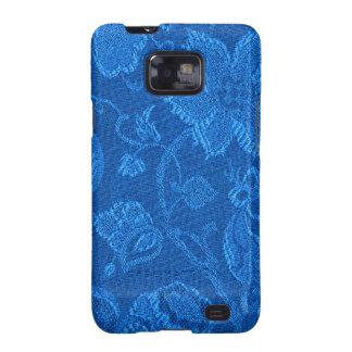 Casamata floral del azul del zafiro del vintage samsung galaxy SII carcasas