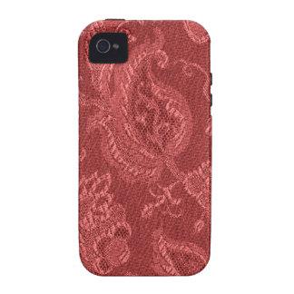 Casamata floral del rojo del arándano del vintage iPhone 4/4S fundas