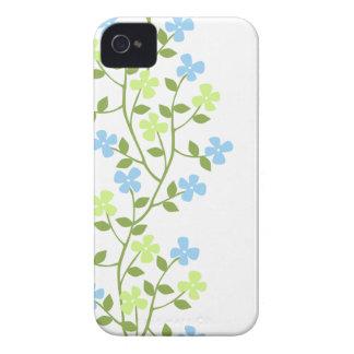 Casamata floral moderna delicada ID™ del iPhone 4 fundas case-mate
